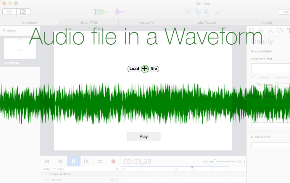 Loading a local file and Waveform generator in Hype
