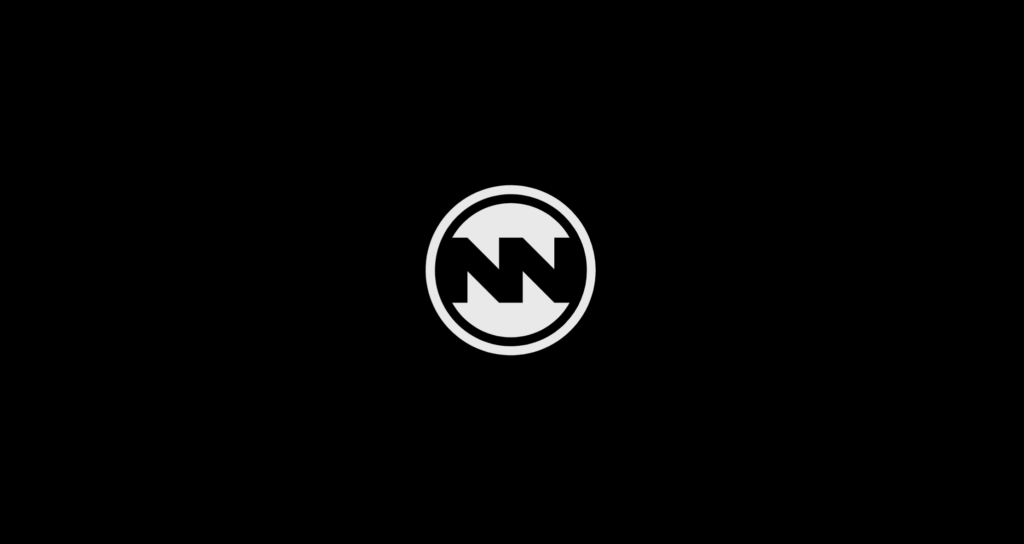 Circular white on black Nowhere Nation Logo