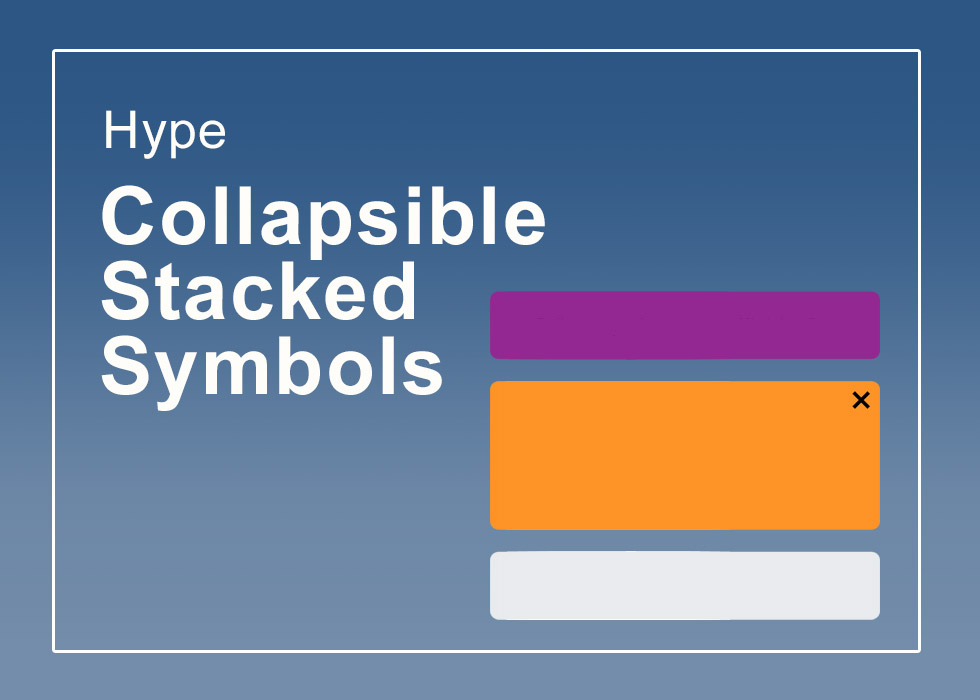 Collapsible Stacked Symbols
