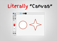 Literally Canvas library